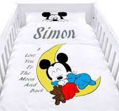 minnie mouse baby boy cot set