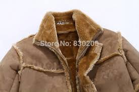 fashion men winter leather jacket brown leather jacket big size faux fur lined coats winter faux