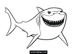 Finding Nemo Coloring Pages Bruce Dory Page Printable Sketch The