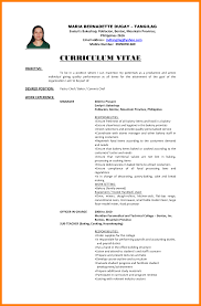12 Curriculum Vitae Objectives Incidental Report