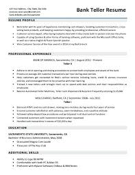 Resume Skills For Bank Teller Gorgeous Bank Teller Resume Objective Samples Resumes For Tellers Sample