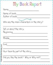 printable book report forms elementary abc s of teaching books home and