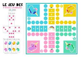 Jeu De Petits Chevaux Imprimer Version Licornes Momes Net