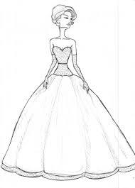 Model Drawing Ball Retro Dress Sketch Drawings Dress