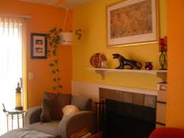 Lovely Imposing Orange And Yellow Living Room Within Bright Focal Wall In My  Apartment