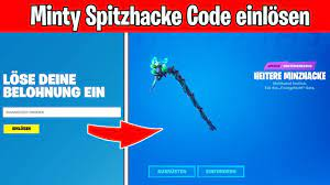 Minty Spitzhacke Code einlösen - So geht es! (Minty Pickaxe Code bekommen  und eingeben) - YouTube
