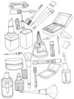 Small Picture Free printable Makeup coloring pages for Girls