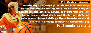 Pat Summitt Quotes Gorgeous PoteQuotes