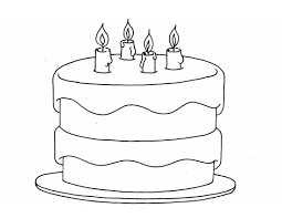 Small Picture Beautiful Blank Birthday Cake Coloring Page Gallery Coloring