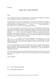Cover Letter Retirement Letter Samples Retirement Letter Samples
