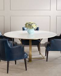 la marble top dining table