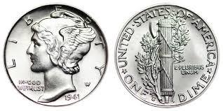 1941 S Mercury Silver Dime Coin Value Prices Photos Info