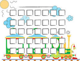 A5 Print Childrens Toy Train Reward Chart With Smiley Face