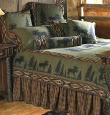 Green Comforter With Deer Pattern In Luxury Rustic Cabin Bedding ... & Green Comforter With Deer Pattern In Luxury Rustic Cabin Bedding Rustic  Cabin Quilts Rustic Cabin Lodge Adamdwight.com