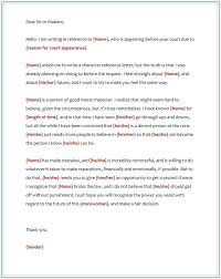 Character Reference Letter For Court What Is A Samples