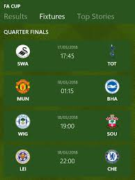 Home ⇒ england football ⇒ fa cup. The Emirates Fa Cup Quarter Finals Magic Of The Cup Read Scoops