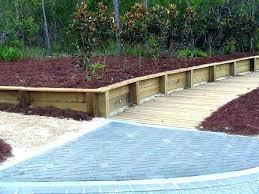 build a timber retaining wall build a timber retaining wall trend 3 wood retaining wall large