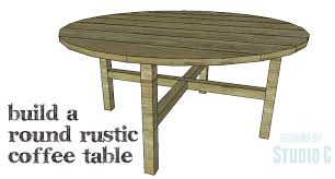 diy plans to build a round rustic coffee table copy