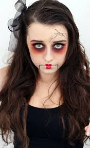 horrible temporary doll makeup for s 2016 face painting ideas 2016