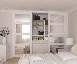 Mirrored Bedroom Wardrobes Fully Fitted Wardrobes Range With Mirrored Doors In Spray Painted