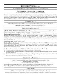 Engineering Project Manager Resume Project Manager Resume Templates