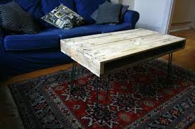 pallet tables with hairpin legs