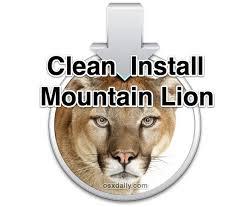 clean install os x mounn lion
