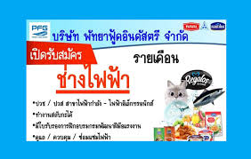 ThaiHotPro.com , บริษัท พัทยาฟู้ดอินดัสตรี จำกัด รับพนักงานช่างไฟฟ้า  ประจำบางปลา (รายเดือน) สมุทรสาคร