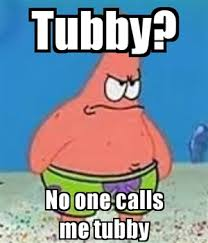 angry tubby PATRICK STAR - caption | Meme Generator via Relatably.com