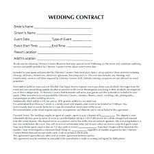 Event Coordinator Contract Template Wedding Planner Contract Sample ...