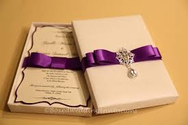 inspirational boxed wedding invitations boxed wedding invitations Wedding Invitation With Box ivory & purple invitation box wedding invitation with bow