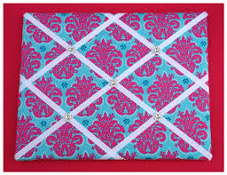 Damask Memo Board Hair Clip Organizer Damask Hair Clip Holder Memory Board 98