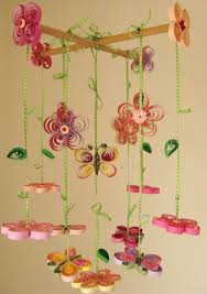 baby mobile  butterfly mobile  girl mobile  quilled lovely