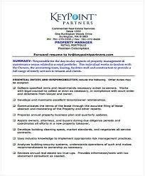Property Management Template Sample Change Management Resume