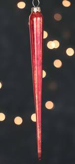 large mercury glass icicle ornament red