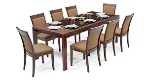 elegant ven 6 to 8 extendable dalla 8 seater glass top dining table set urban ladder