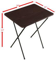 folding tray table espresso
