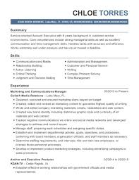 Best Marketing And Communications Manager Resumes Resumehelp