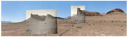 "Mark Klett with Byron Wolfe) Buttes of the Moenkopi Formation near Lee's  Ferry, Arizonapigment inkjet print2008, 24"" x 8…   Landscape, Modern  photographers, Klett"