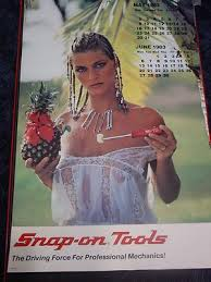 calender tools 1983 snap on tools pinup girl calendar 251193283