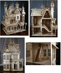 This Laser Cut Victorian Doll House kit is cut from 1|8