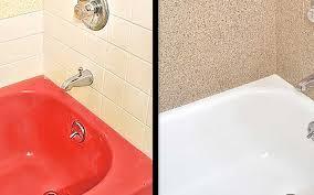 porcelain bathtub before and after reglazed