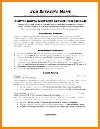 Summary For Resume Best Resume Summary Examples For Customer Service Professional Summary