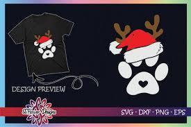 Help us power the wayback machine! Paws Print Santa Hat Dog Paws Reindeer Graphic By Ssflower Creative Fabrica
