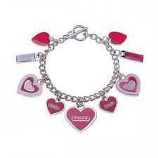 Coach Heart Charm Pink Bracelets CWA