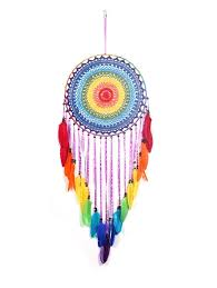 colorful feathers handmade dream catcher wall hanging decoration