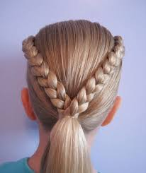 cool easy hairstyles for s easy braids for kids with short braided hairstyles for short hair