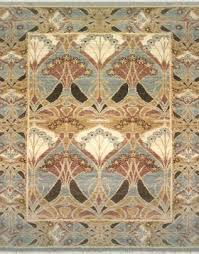 zoomable rug pattern image showing design of theswan light blue rug from the hali william morris