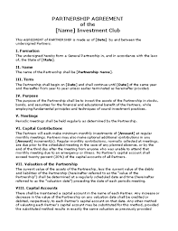 Free Partnership Agreement Form Pdf Inspirational Partnership ...