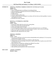 Personal Resume Personal Shopper Resume Samples Velvet Jobs 56